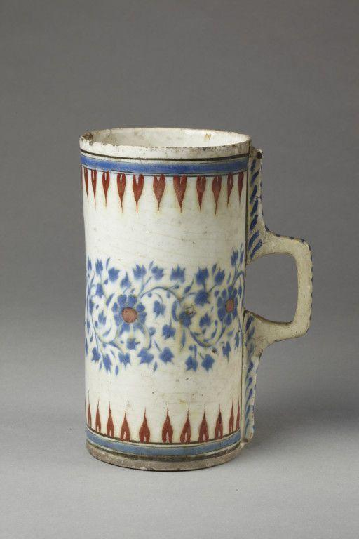 Tankard Fritware With Underglaze Painting In Blue And Red Turkey Iznik Ca 1570 80 Source M Vam Ac Uk In 2020 Pottery Ceramic Pottery Glazed Ceramic