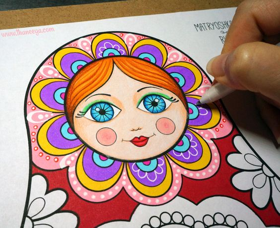russian folk art coloring pages - photo#35