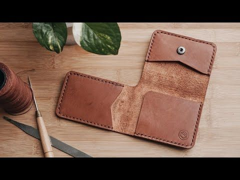 Making A Leather Trifold Card Wallet With Pdf Pattern Youtube Leather Card Wallet Pattern Leather Wallet Pattern Leather Wallet Pdf Pattern