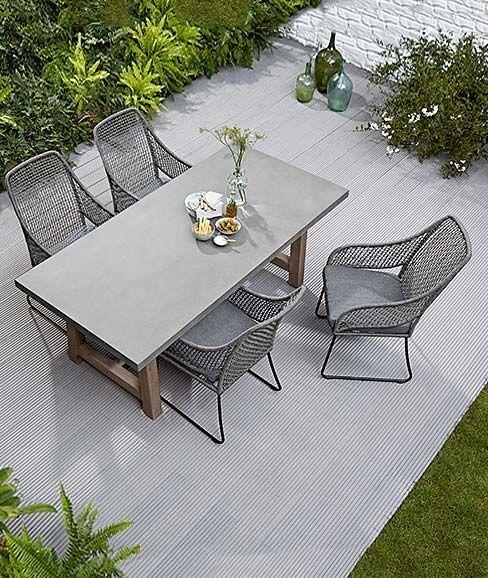 Terrassenmobel Sitzterrasse Tisch Und Stuhle Fur Die Terrasse Garten Contemporaryoutdoorfurn In 2020 Terrace Furniture Aluminum Patio Furniture Patio Seating