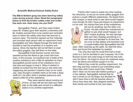 spongebob science safety rules - Google Search | General Science ...