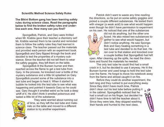 Scientific Method Worksheet Spongebob Worksheets For School ...