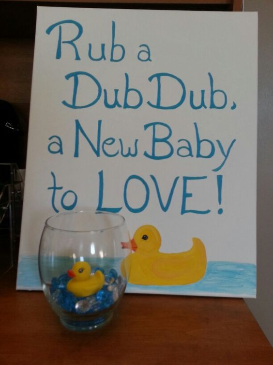 Artworks signs and new babies on pinterest for Rubber ducky bathroom ideas
