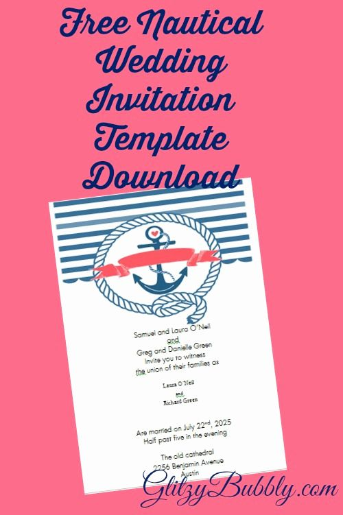 Free Nautical Invitation Templates Fresh Free Printable Nautical Wedding Invitations In 2020 Nautical Wedding Invitations Nautical Invitations Nautical Wedding