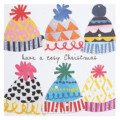 Buy Black Olive Cosy Hats Christmas Cards Online at johnlewis.com