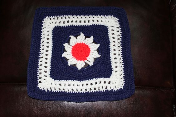 """Ravelry: Project Gallery for Blooming Lace - 12"""" Square pattern by Melinda Miller"""