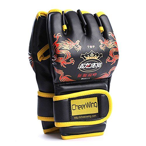 MMA UFC Sparring Grappling Boxing Fight Punch Ultimate Mitts PU Leather Gloves