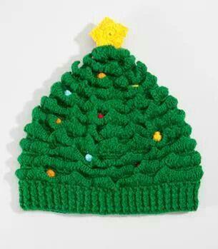 Arboles Navideños, Diversos Materiales, Feo, Gorro Navideño, Ganchillo Navidad, Encontrada, Sombreros, Bufandas, Gorra