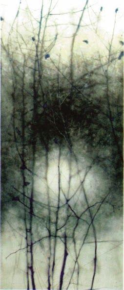 Marci Crawford Harnden, Midnight Nest,  48x20, oil on board