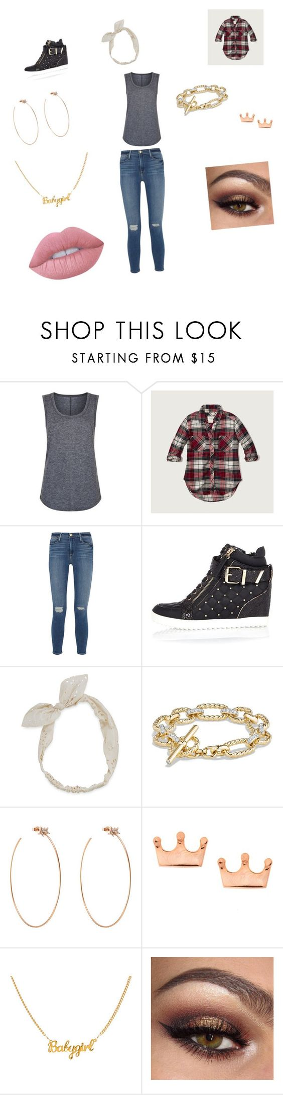 """nbjr"" by vyesica-yv on Polyvore featuring Elie Tahari, Abercrombie & Fitch, Frame Denim, River Island, Carole, David Yurman, Diane Kordas, Mminimal and Lime Crime"