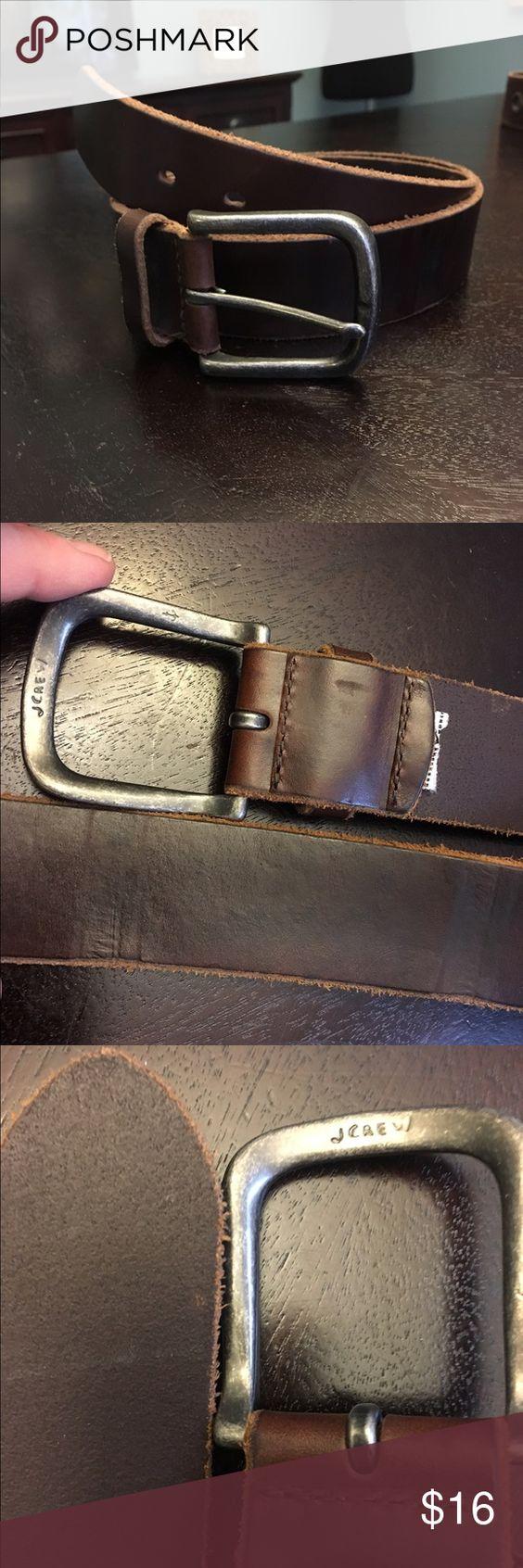 J.Crew belt Sturdy brown leather J.Crew baker preowned. Usual wear. Nice belt. J. Crew Accessories Belts