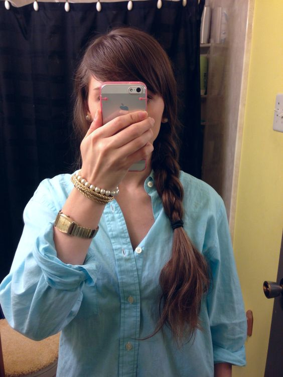 Boyfriend button down and bling