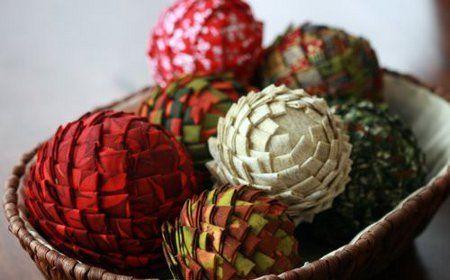 Esferas decorativas: ¿o alcachofas de tela?