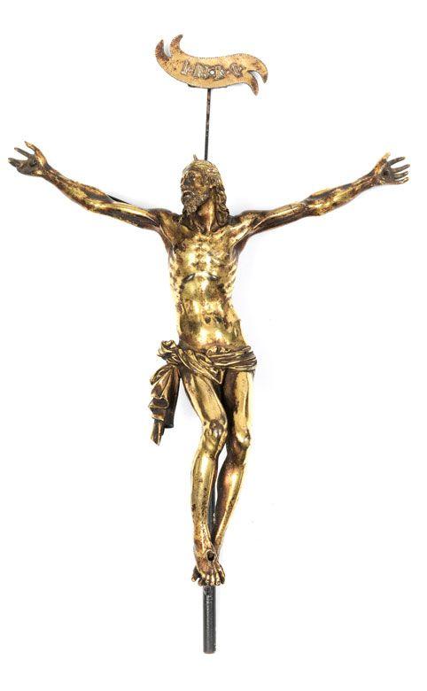 bronze Statuette de J/ésus-Christ sur la croix