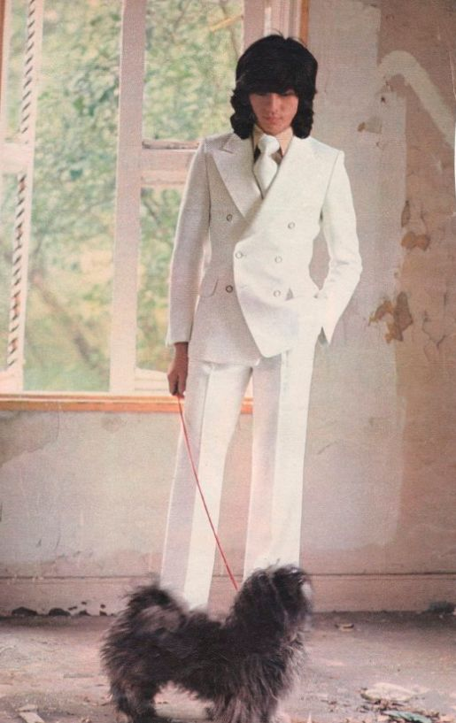 白いスーツの若い頃・昔の西城秀樹
