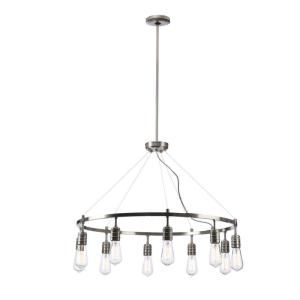 Minka Lavery, Downtown Edison 10-Light Brushed Nickel Chandelier, 4139-84 at The Home Depot - Mobile
