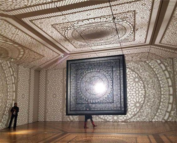 laser-cut wooden cube