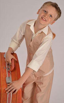 Vintage inspired vest suit in beige  #beigesuit #boyssuit #vintagesuits #vintageformalwear #boysformalwear #beigeboyssuit