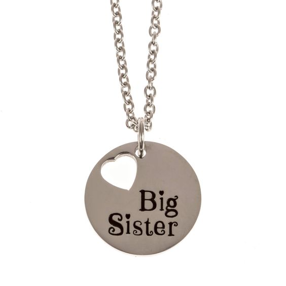 Stainless Steel Charm Necklace Big Sister