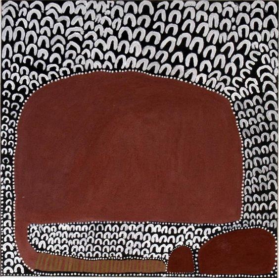 Lena Nyadbi, Dayiwul ngarrangkarni, 2009, natural ochre and pigments on canvas, 80 x 80cm