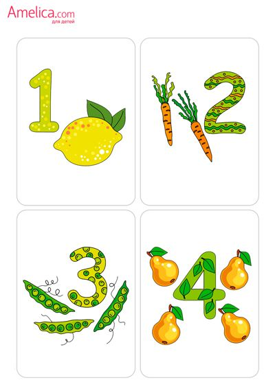 картинки цифры от 1 до 5 для детей