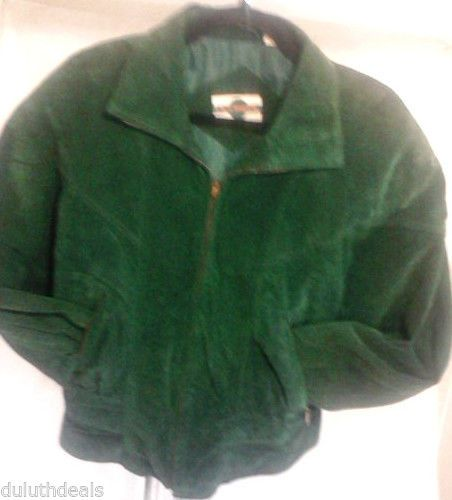 Outbrook Green Suede Jacket Women's Size Medium #Outbrook #BasicJacket  $35.00