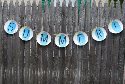 Beach Ball Banner - Summer! {from Pumpkin Petunia}