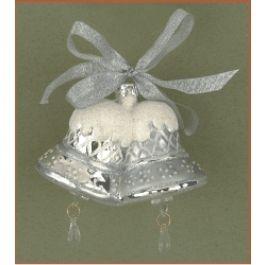 Silver Bells - Glass Ornament