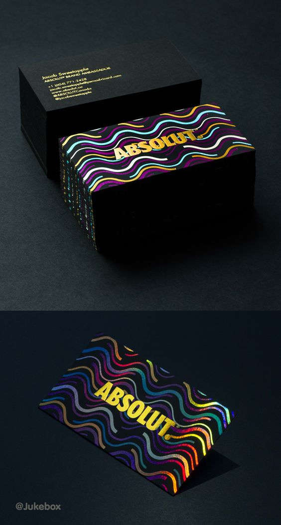 Foil business cards Jukebox and Business cards on Pinterest