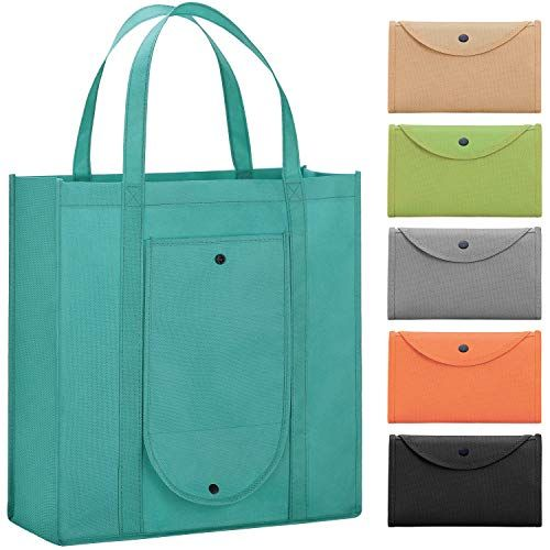 Recycled collapsible Purse Reusable Burner Bag Light Weight Grocery Tote Bag Compact