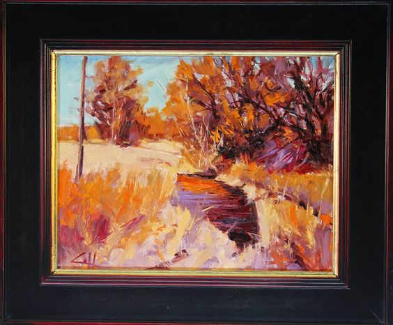 George Coll Daily Painter: Sunlight on Cottonwood #0106G