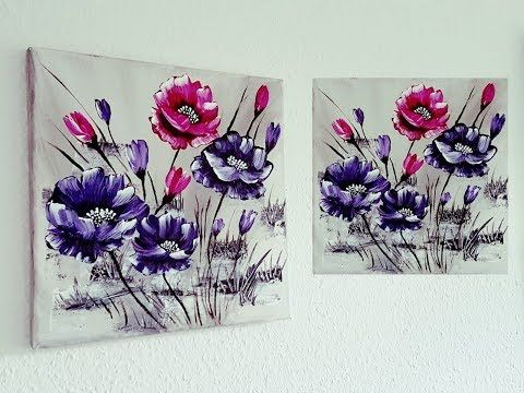 Blumen Malen Acryl Leicht Fur Anfanger Easy Flowers Acrylic