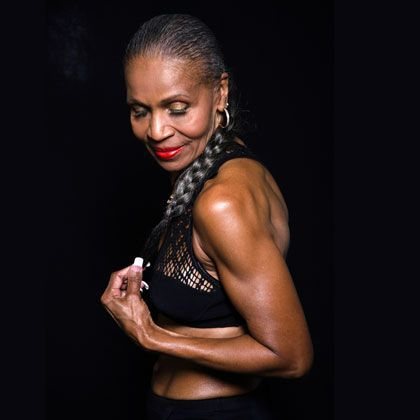Named the world's oldest female bodybuilder by the Guinness Book of World Records, Shepherd is up at 3 a.m. every day to lift weights, run, and do a cardio workout. She's also a personal trainer, professional model, and author.: