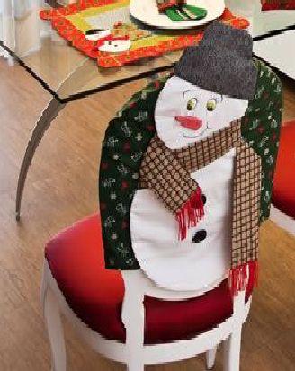 Capa para cadeira - Boneco de Neve