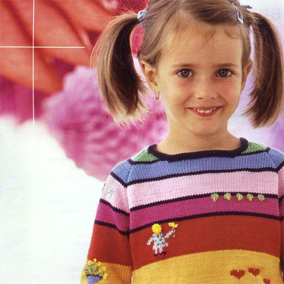 Полосатый свитер-реглан для девочки Обхват груди 72 [80] см Длина 41 [45] см Длина рукава по шву 27,5 [30] см http://www.liveinternet.ru/users/lashlash/post335669507/