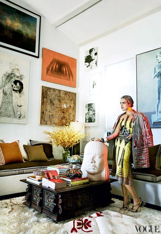 Mario Testino's home-eclectic interiors-Natalia Vodianova