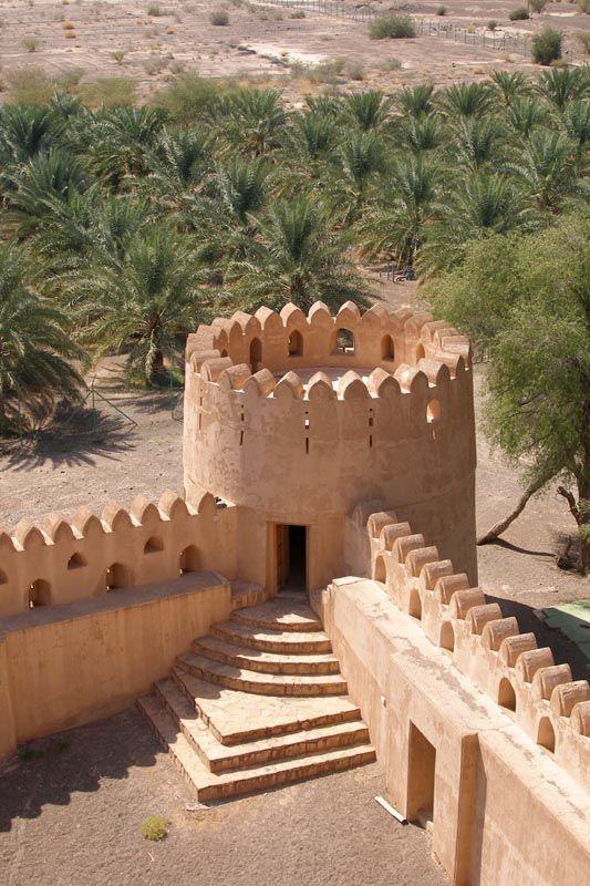 величественный форт в Низве