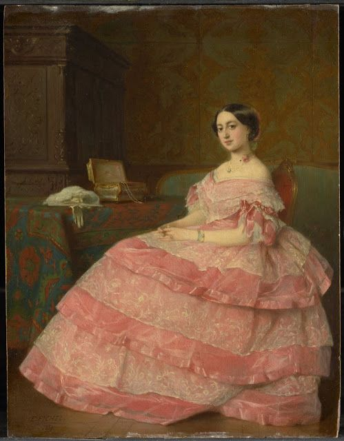 """Eugène Fichel - Madame P., 1857. Repository unknown. """