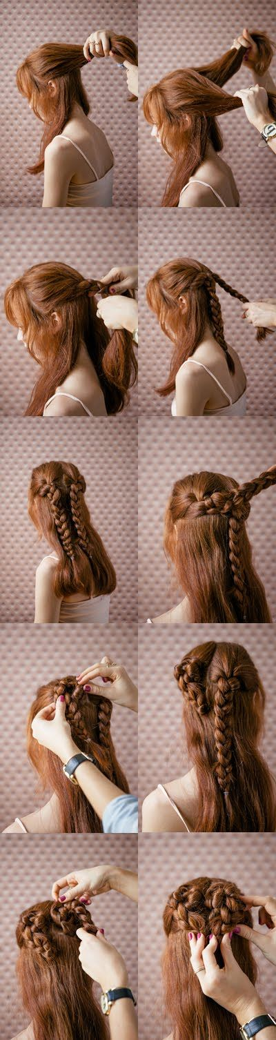 Show your love with a heart braid!