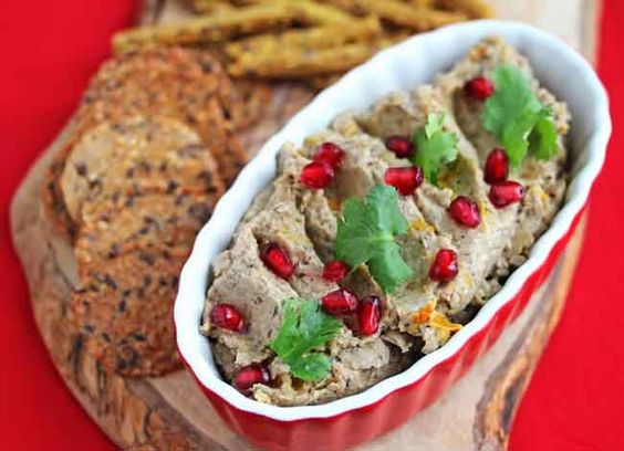 Georgian inspired Eggplant and Walnut Dip from @Jeanette | Jeanette's Healthy Living