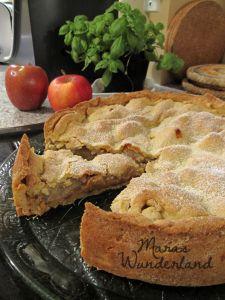 Gedeckter Apfelkuchen mit Walnüssen - oder auch Matschi-Kuchen