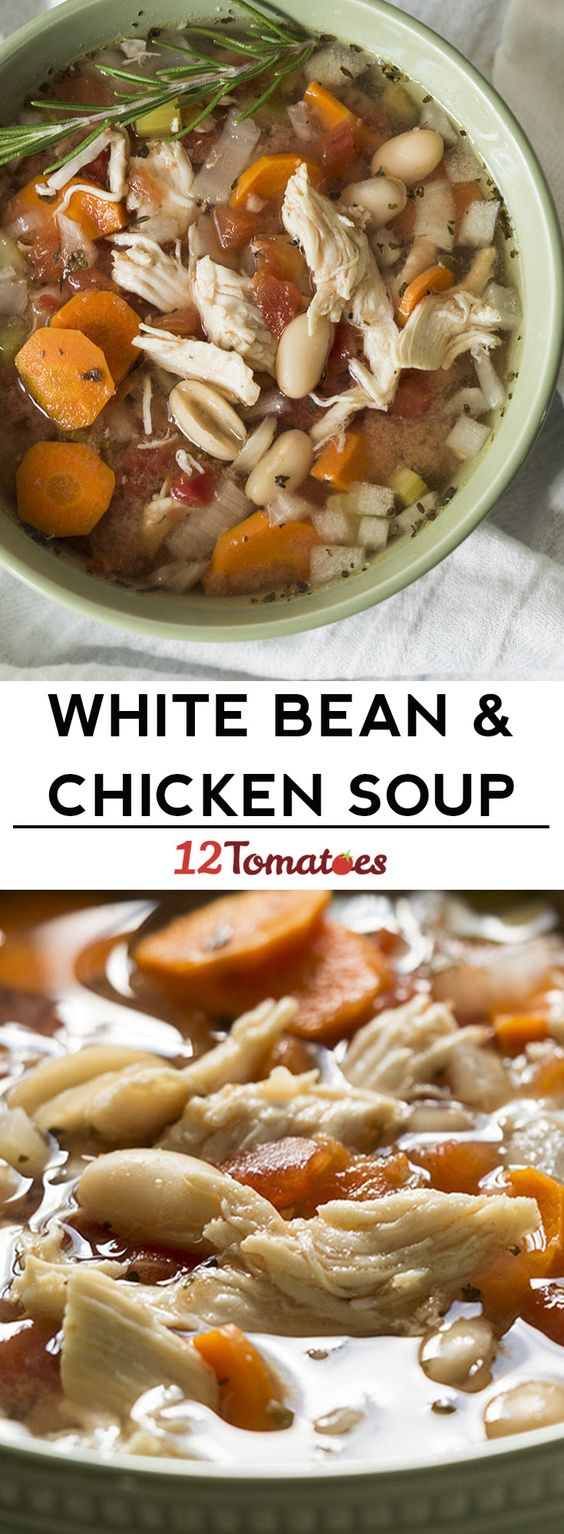 This white bean chicken soup is packed with flavor and great for you!