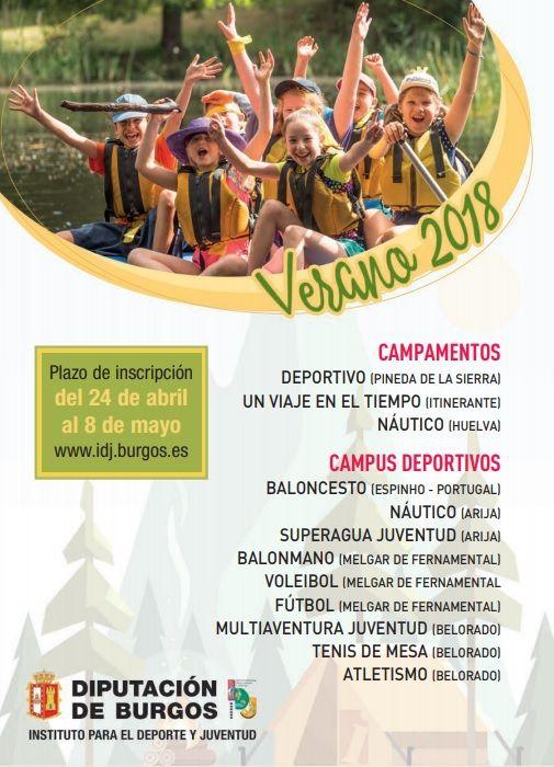 Campamentos Y Campus Deportivos 2019 De La Diputación De Burgos Deportes Balonmano Atletismo