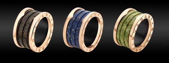 Bvlgari Marble Letter Rings