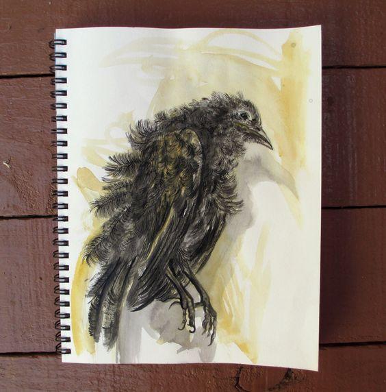 Instinto - mista sobre sketchbook