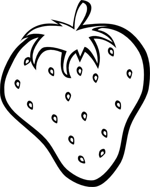 Outline Strawberry Clip Art Fruit Coloring Pages Fruits Drawing Apple Coloring Pages