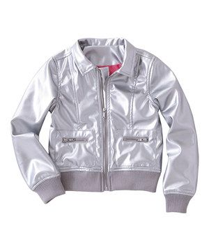 FabKids Silver Metallic Jacket - Toddler & Girls | Pinterest
