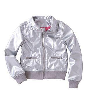 FabKids Silver Metallic Jacket - Toddler & Girls | Pinterest