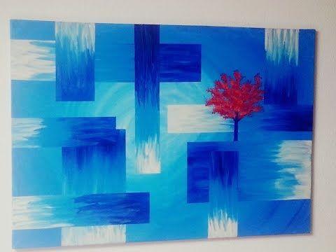 Malen Acryl Abstrakt Baum Acrylic Painting