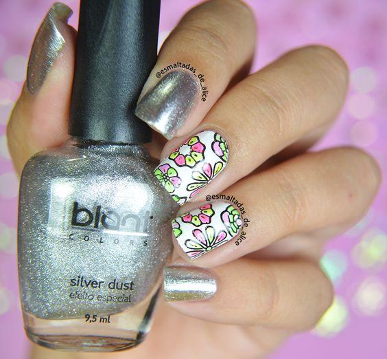Top tints, que funcionam como top coats coloridos para criar divertidas nails art's . Estes esmaltes são translúcidos com efeito neon.  Unhas da Esmaltadas de Alice